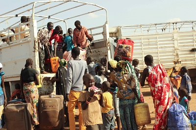 케냐 국경의 남수단 난민들 ©MSF