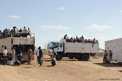 카쿠마 난민캠프로 이송되는 난민들 ©MSF
