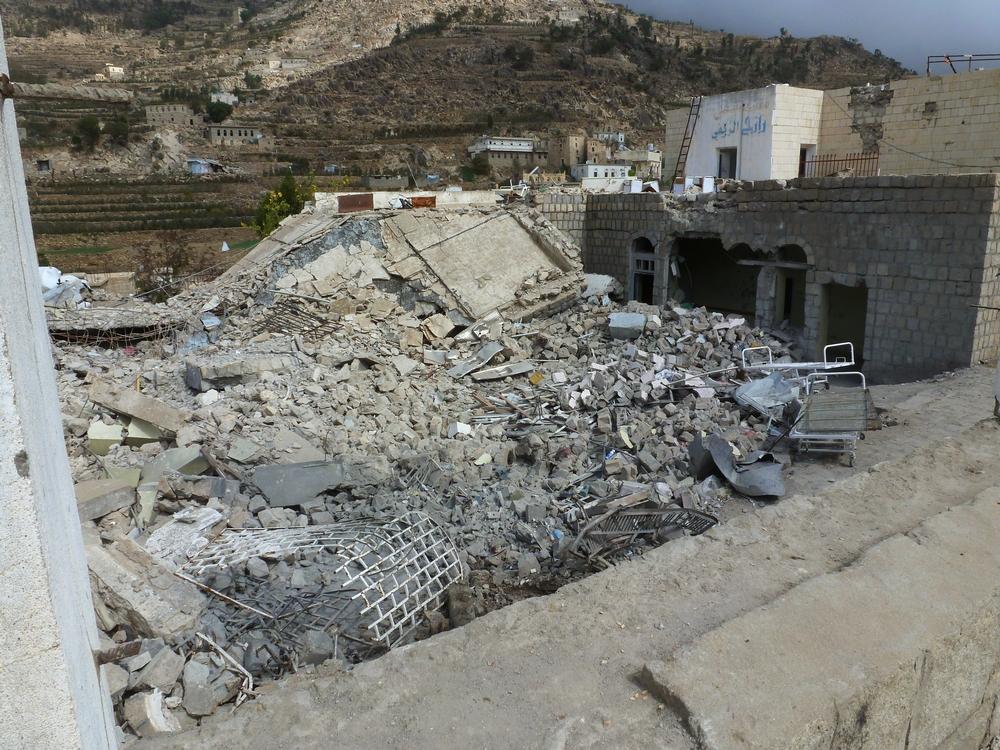 지난 1월 10일, 미사일 공격으로 파괴된 라제 지역의 시아라 병원