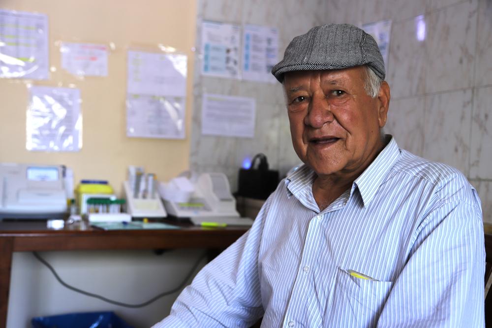 당뇨를 앓고 있는 아르살 출신 압델하미드 알-후자이리(75세) ⓒMSF/Jinane Saad