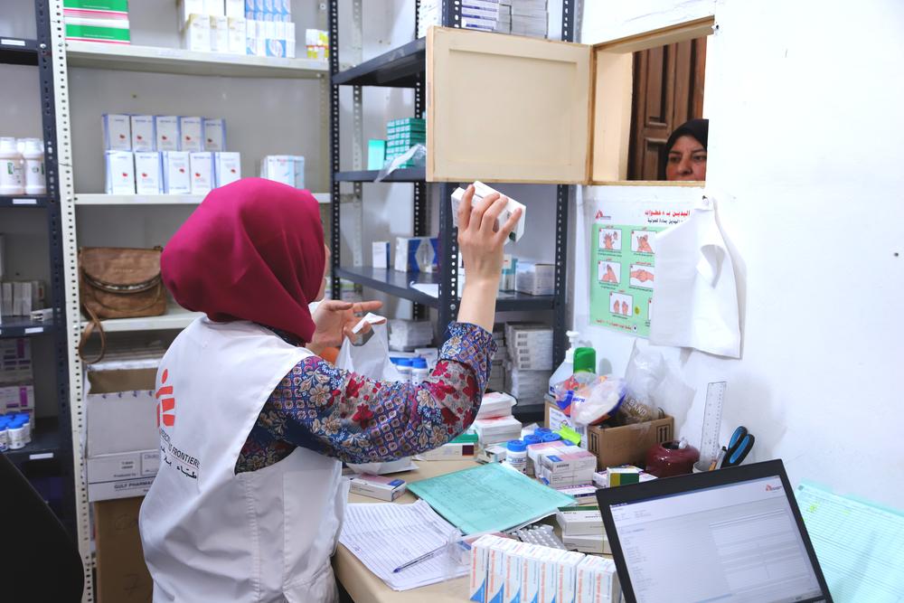아르살에 있는 국경없는의사회 의료 시설 ⓒMSF/Jinane Saad