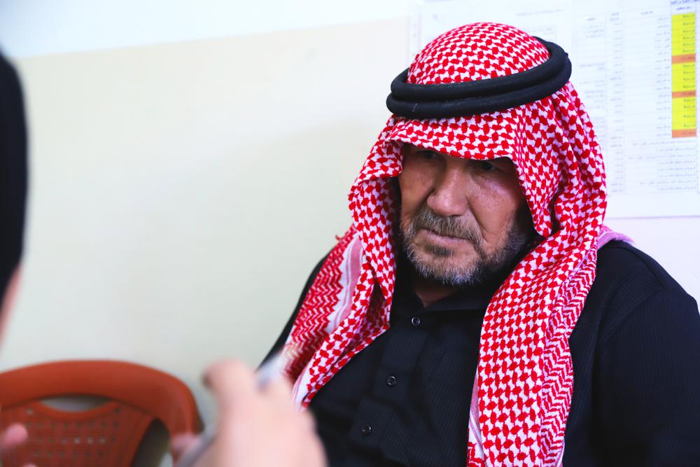 당뇨를 앓고 있는 시리아 출신 압델라티프(56세) ⓒMSF/Jinane Saad