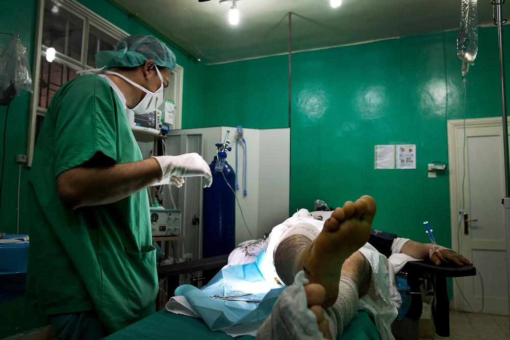 시리아 북부 알레포에 있는 국경없는의사회 병원 내 수술실. ⓒ MSF/Anna Surinyach