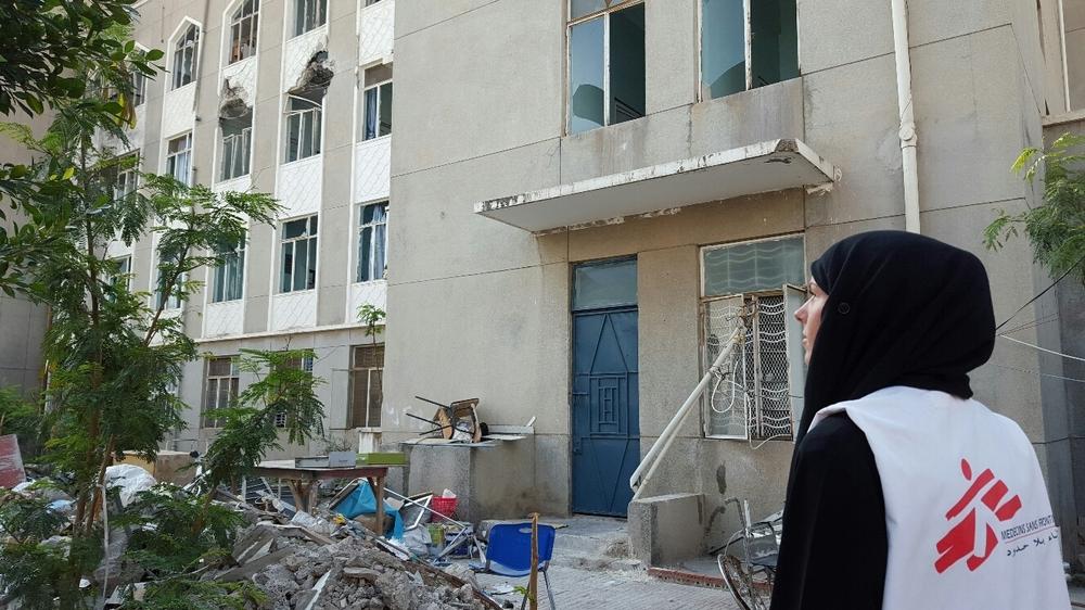 예멘 남부 타이즈 포위 지역 안에 있는 알 줌후리 병원 ⓒMSF