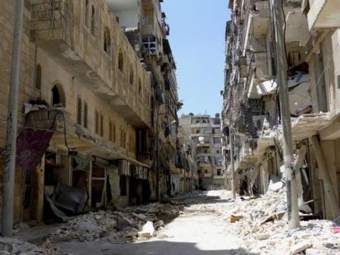 2013년 4월 알레포 거리 모습 ⓒMSF