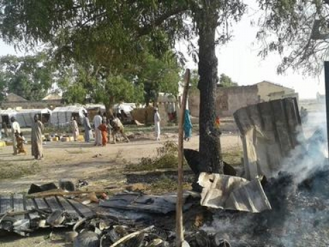 Victims of bombing on a displaced camp in Rann, Nigeria ⓒMSF