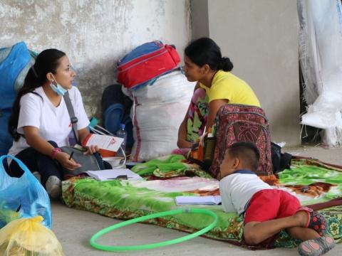 콜롬비아: 모코아 산사태 피해 이재민에게 의료•심리 지원
