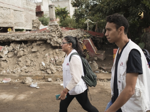 멕시코: 대규모 지진 이후 심리사회적 지원을 실시하는 국경없는의사회