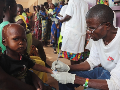 중앙아프리카공화국: 접근성 개선으로 말라리아, 영양실조 환자가 급증한 보상고아 병원