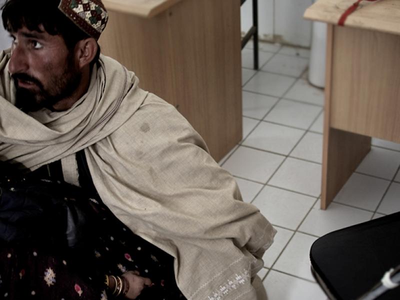 국경없는의사회 병원에 온 환자의 모습