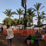 국경없는의사회가 민주콩고 북부 키부 망기나에 개설한 치료센터 전경 ©Karin Huster / MSF