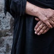 이라크 북부 아쉬티 캠프에 머물고 있는 나와르(가명) ⓒMSF/Sacha Myers