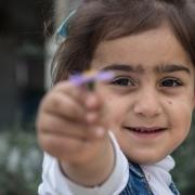 도미즈 난민캠프에 있는 국경없는의사회 산부인과 진료소에서 첫 번째로 태어난 아이 ⓒMSF/Sacha Myers