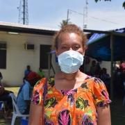 포트모르즈비에 있는 게레후 병원에서 약제내성 결핵 진단을 받은 기아킬라 ⓒSophie McNamara/MSF